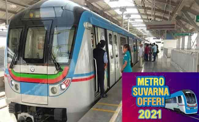 L&T Metro Rail launches 'Metro Suvarna offer 2021' for Hyderabad Commuters - Sakshi Post