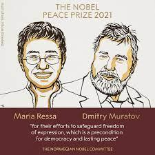 2021 Nobel Peace Prize to Journalists Maria Ressa, Dmitry Muratov for Efforts Fight to Safeguard Freedom of Expression - Sakshi Post