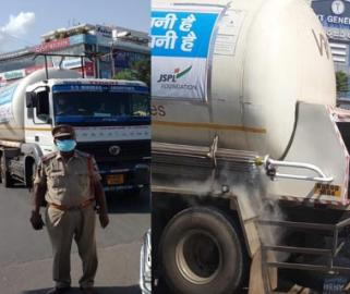 AP Police traces missing oxygen tanker,send it to Vijayawada GGH via green channel - Sakshi Post